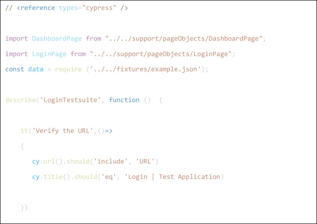 Cypress Sample Code