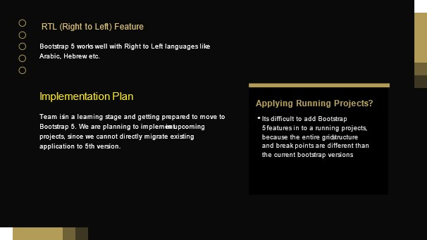 New Features of BS5 - Right to Left