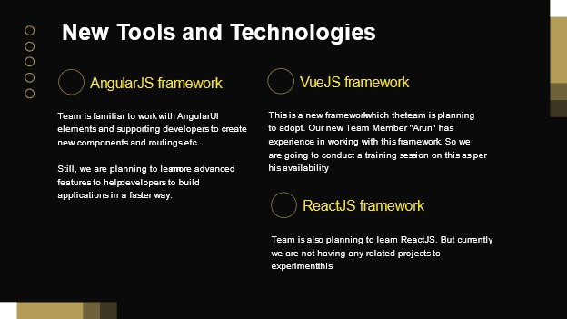 New Tools and Technologies