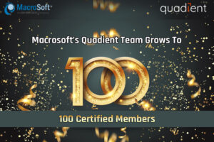 100 Certified Quadient Team Members